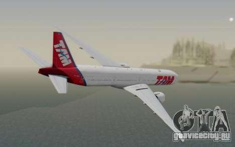 Boeing 777-300ER TAM Linhas Aéreas для GTA San Andreas вид слева