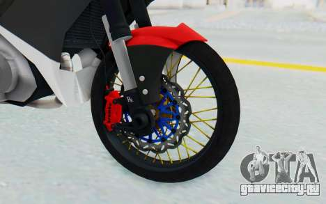 Yamaha Jupiter MX 135 Semi Roadrace для GTA San Andreas вид сзади