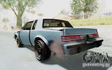 Buick GNX 1987 для GTA San Andreas вид слева