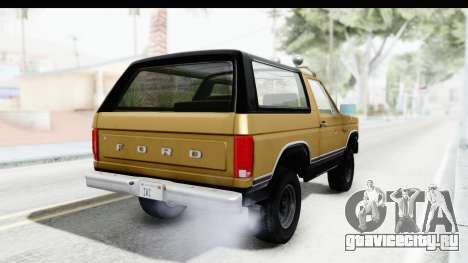 Ford Bronco 1980 Roof IVF для GTA San Andreas вид слева