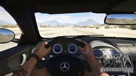 Mercedes-Benz SLR 722s Roadster & Mansory для GTA 5 вид сзади