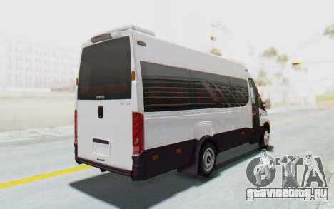 Iveco Daily Minibus 2015 для GTA San Andreas вид сзади слева