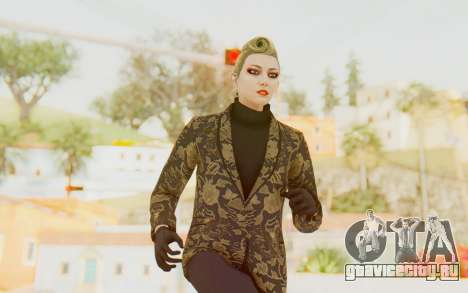 GTA 5 DLC Finance and Felony Female Skin для GTA San Andreas