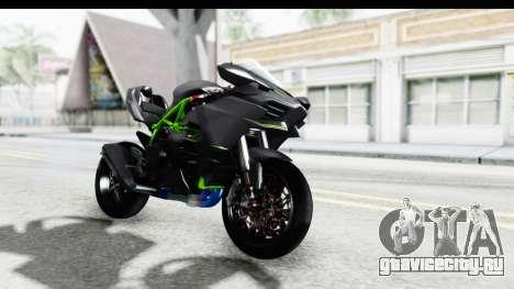 Kawasaki Ninja H2R Black для GTA San Andreas вид справа