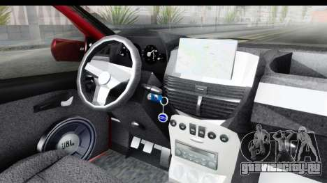Zastava 10 1.6 для GTA San Andreas вид изнутри