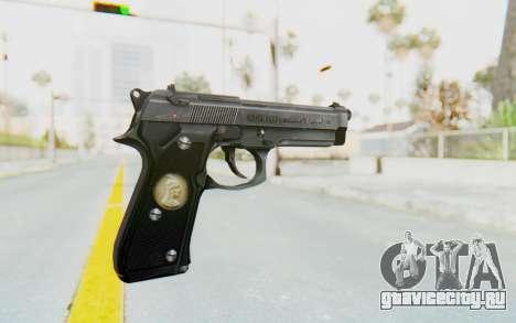 Tariq Iraqi Pistol Back v1 Silver для GTA San Andreas второй скриншот