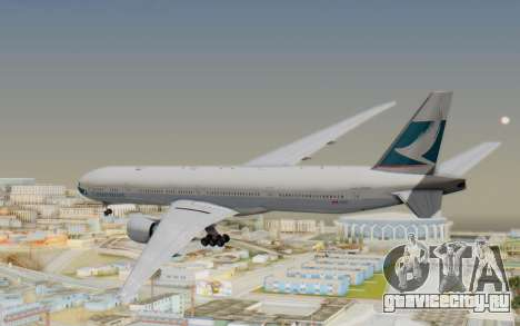 Boeing 777-300ER Cathay Pacific Airways v1 для GTA San Andreas вид справа