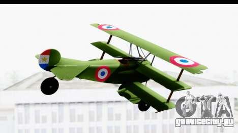 Fokker DR1 Old Paraguay Air Force для GTA San Andreas вид справа