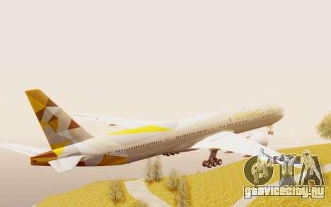 Boeing 777-300ER Etihad Airways для GTA San Andreas вид справа