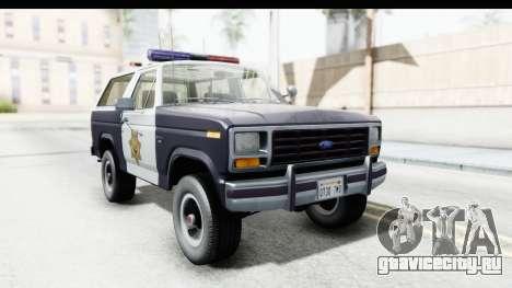 Ford Bronco 1982 Police для GTA San Andreas