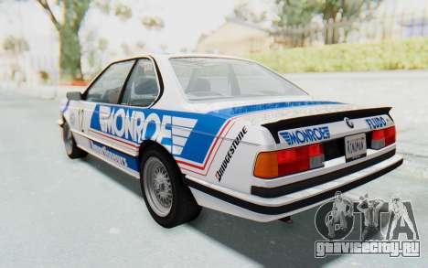 BMW M635 CSi (E24) 1984 HQLM PJ3 для GTA San Andreas вид снизу