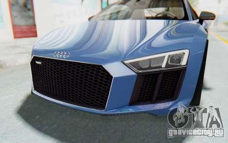 Audi R8 2017 для GTA San Andreas вид сбоку