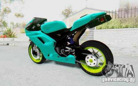 Ducati 1098R Streetrace для GTA San Andreas вид слева