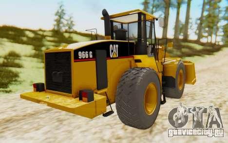 Caterpillar 966 GII для GTA San Andreas вид сзади слева