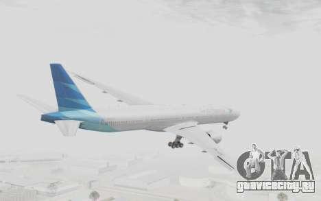 Boeing 777-300ER Garuda Indonesia для GTA San Andreas вид справа