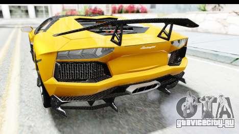 Lamborghini Aventador LP700-4 LB Walk для GTA San Andreas вид снизу