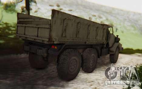 MGSV Phantom Pain Zi-GRA 6T Truck для GTA San Andreas вид сзади слева