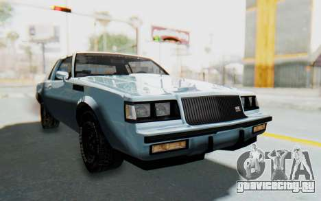 Buick GNX 1987 для GTA San Andreas вид справа