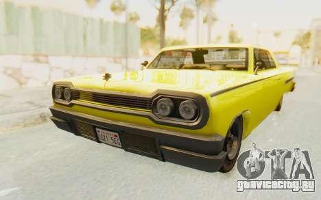 GTA 5 Declasse Voodoo для GTA San Andreas вид справа