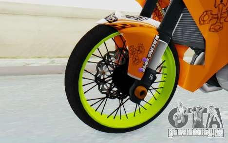 Yamaha Jupiter MX 135 Roadrace для GTA San Andreas вид сзади