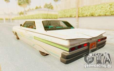 GTA 5 Declasse Voodoo Alternative v2 для GTA San Andreas колёса
