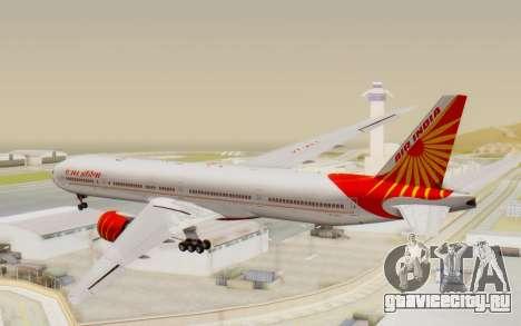 Boeing 777-300ER India Air для GTA San Andreas вид слева