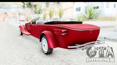 Unique V16 Phaeton для GTA San Andreas вид слева