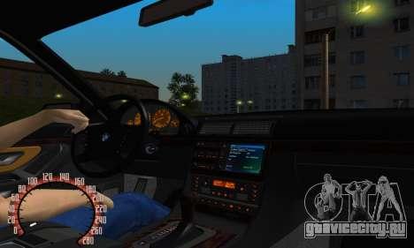 BMW 740i E38 для GTA San Andreas вид изнутри