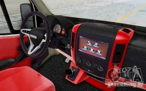 Iveco Daily Minibus 2015 для GTA San Andreas вид сзади