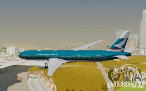 Boeing 777-300ER Cathay Pacific Airways v2 для GTA San Andreas вид справа