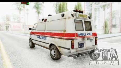 MGSV Phantom Pain Ambulance для GTA San Andreas вид слева