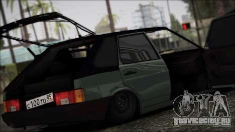 Ваз 2109 Бродяга для GTA San Andreas вид изнутри