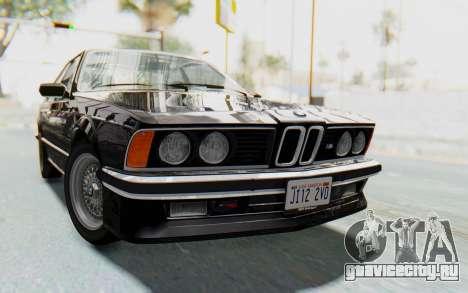 BMW M635 CSi (E24) 1984 HQLM PJ3 для GTA San Andreas