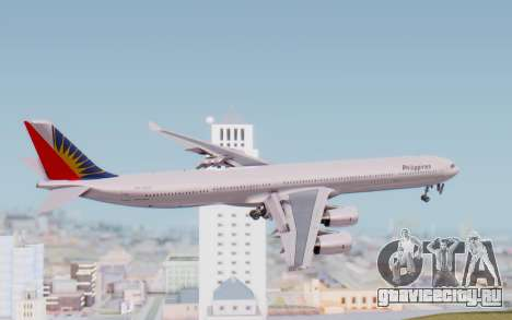 Airbus A340-600 Philippine Airlines для GTA San Andreas вид справа