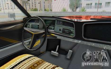 Buick Riviera 1972 Boattail Lowrider для GTA San Andreas вид изнутри