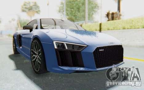 Audi R8 2017 для GTA San Andreas вид справа