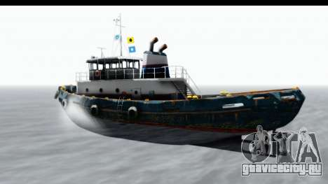 GTA 5 Buckingham Tug Boat v1 для GTA San Andreas вид сзади слева