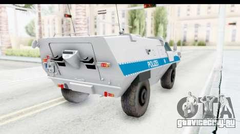 Hermelin TM170 Polizei для GTA San Andreas вид сзади слева