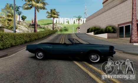 Chevrolet 369 Camaro SS для GTA San Andreas вид слева