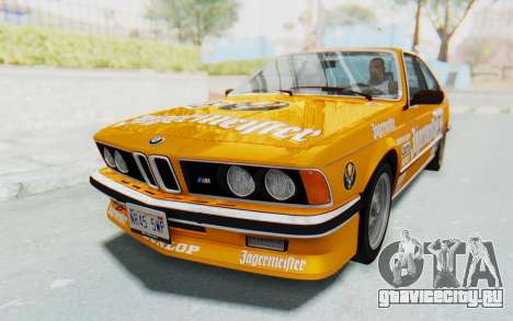 BMW M635 CSi (E24) 1984 HQLM PJ3 для GTA San Andreas салон