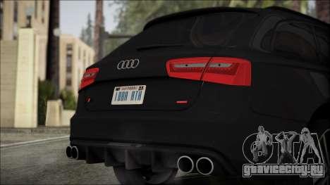 Audi S6 для GTA San Andreas вид сзади