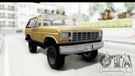 Ford Bronco 1980 Roof IVF для GTA San Andreas вид сзади слева