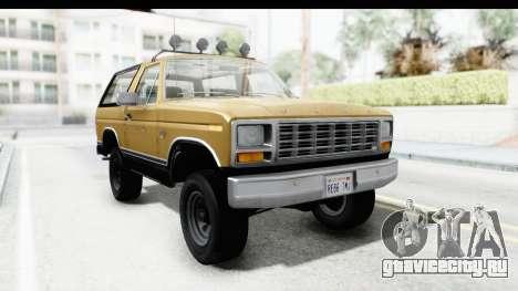 Ford Bronco 1980 Roof IVF для GTA San Andreas вид сзади слева