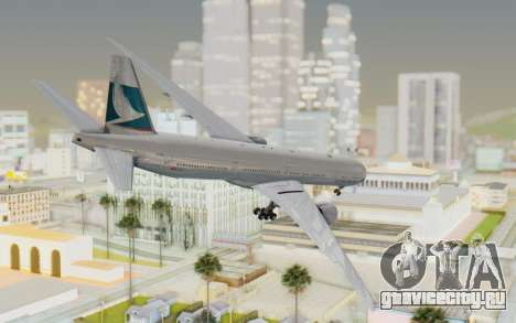 Boeing 777-300ER Cathay Pacific Airways v1 для GTA San Andreas вид слева