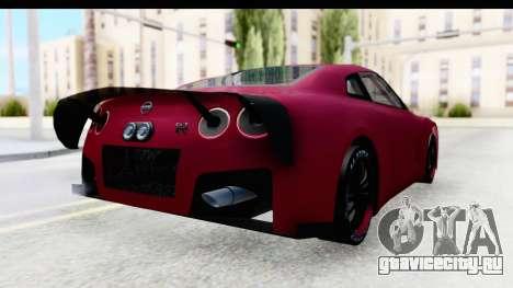 Nissan GT-R R35 Top Speed для GTA San Andreas вид сзади слева