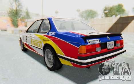 BMW M635 CSi (E24) 1984 HQLM PJ1 для GTA San Andreas салон