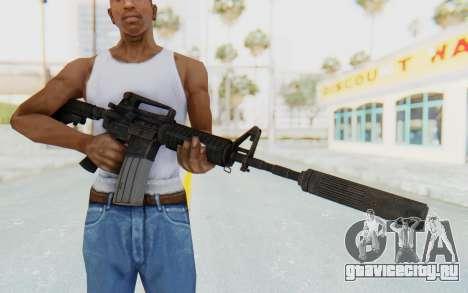 Assault M4A1 Silenced для GTA San Andreas третий скриншот