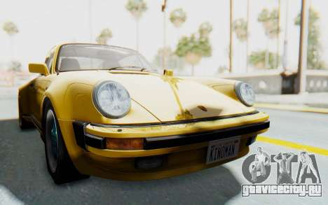 Porsche 911 Turbo 3.2 Coupe (930) 1985 для GTA San Andreas вид сзади слева