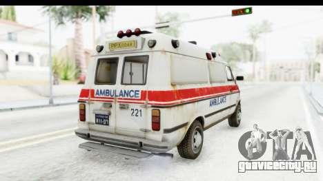 MGSV Phantom Pain Ambulance для GTA San Andreas вид справа