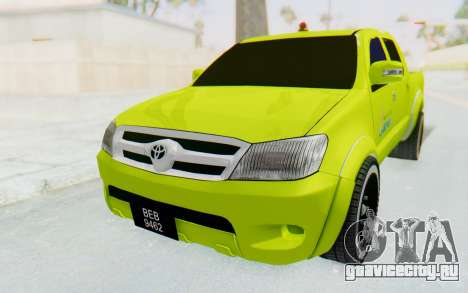 Toyota Hilux Malaysia Airports Green для GTA San Andreas